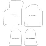 Audi TT Coupe or Roadster MK1 Car Mats